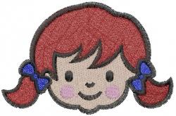 Swedish face embroidery design
