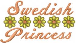 Swedish Princess embroidery design