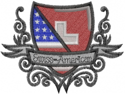 Swiss American embroidery design