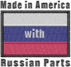 Russian Flag embroidery design