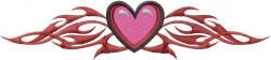 Flaming Heart embroidery design