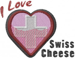 Swiss Heart embroidery design