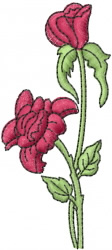 Mothers day roses embroidery design