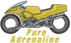 Motorcycle Adrenaline embroidery design