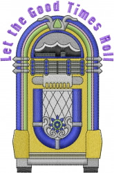 Musical Jukebox embroidery design