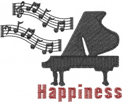 Piano Happiness embroidery design