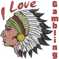 Indian Head Gambling embroidery design