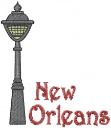 New Orleans Streetlamp embroidery design