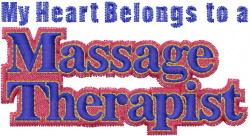 Massage Therapist embroidery design