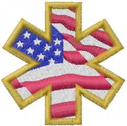 Paramedic Flag embroidery design