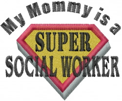 Social Worker Mommy embroidery design