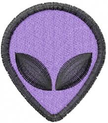 Alien Head embroidery design