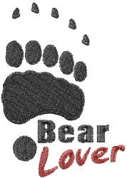 Bear Lover embroidery design
