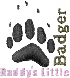 Daddys badger embroidery design