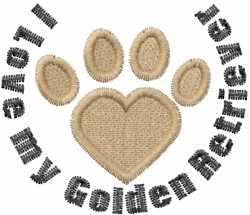 Golden Retriver Paws embroidery design