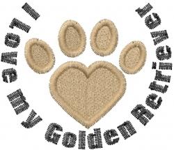 Golden Retriver Paws embroidery design