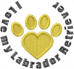 Labrador Retriever Paws embroidery design