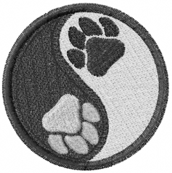 Ying Yang Paws embroidery design