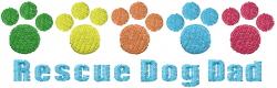 Rescue Dog Dad embroidery design