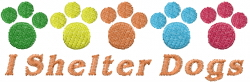 I Shelter Dogs embroidery design
