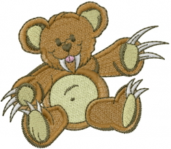 Bear Claws embroidery design