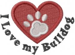 Love the Bulldog embroidery design