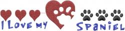Spaniel Paws embroidery design