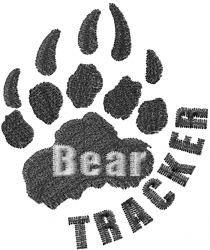 Bear Tracker embroidery design