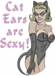 Sexy Cat Woman embroidery design