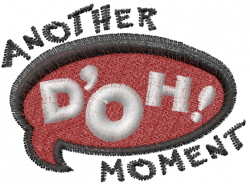 Doh embroidery design