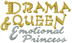 Emotional Princess embroidery design
