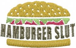 Hamburger slut embroidery design