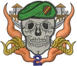 Skull tattoo embroidery design