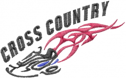 Cross Country Running embroidery design