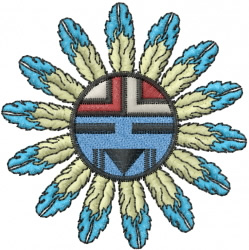 Hopi Sun Face embroidery design