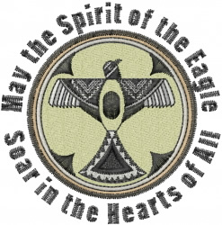 Mimbres Eagle Spirit embroidery design