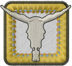 Steer Skull Box embroidery design