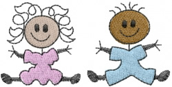 Stick Babys embroidery design