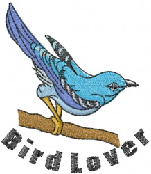 Bird Lover embroidery design