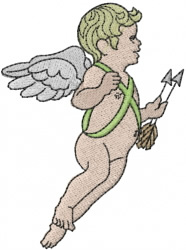 Cupid with Arrows embroidery design