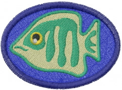 Fish on the Beach embroidery design