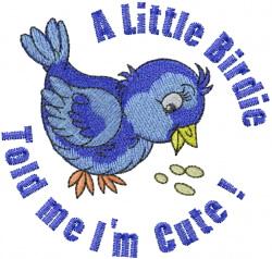 Cute Bluebird embroidery design