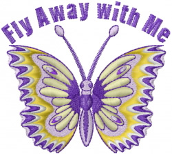 Fly Away with Me embroidery design
