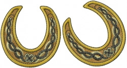 Antique Horseshoes embroidery design