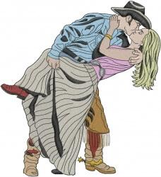 Cowboy Romance embroidery design