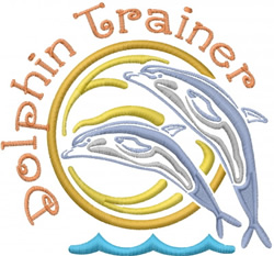 Dolphin Trainer embroidery design