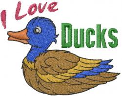 Duck Love embroidery design
