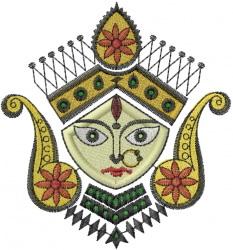 Durga Purja embroidery design