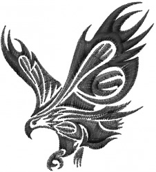 Tribal Eagle Tattoo embroidery design