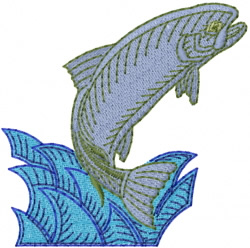 Trout Fish embroidery design